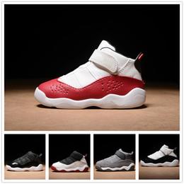 92e582b2966a3 2019 chaussures de bébé blanc bon marché nike air jordan aj6 Anneaux Basket Chaussures  Pas Cher
