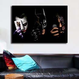 Joker Batman Ve Iki Yüz Marvel Film Sanat Tuval Poster Duvar Resmi Oturma Odası Ev Yatak Odası Dekorasyon Için Resim Baskı cheap joker batman poster nereden joker batman posteri tedarikçiler