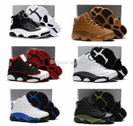 separation shoes a20d7 6cb61 Top Quality 13s Bambini Bambini Scarpe da pallacanestro Wheat Hyper Royal  Sneaker da bambino Olive Green Bordeaux Ragazzi Infant 13 Scarpe da  ginnastica ...