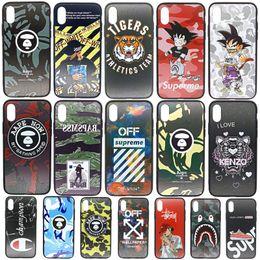 Per Iphone Xr 11 Pro Xs Max Luxury Design della cassa del telefono 6 7 8 x più di marca Champion bordo soft Custodie Cellulari da bastone nero della mela fornitori
