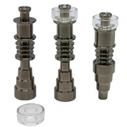 Chiodi in titanio universale 6 in 1 6 in 1 10 mm 14 mm 18 mm giunto maschio femmina femmina GR2 chiodo senzatetto vetro bong Dab Rigs strumento da clip metallo coccodrillo fornitori