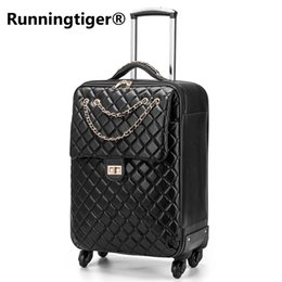 0e59c59e9 High quality luxury noble luggage 20 24 inch PU Rolling Luggage Spinner  brand suitcase PU business Retro woman suitcase