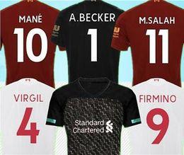 Liverpool 2019/20 SALAH camiseta de fútbol 2019 2020 MANE camiseta de fútbol 2020 Camiseta de futbol negro FIRMINO 19/20 liverpool maillot de foot VIRGIL HENDERSON ORIGI desde fabricantes