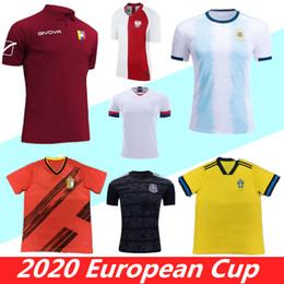 Maglie uruguay online-Coppa Europa 2019 2020 Venezuela Svezia Piede 19 20 Camicie Perù Calcio Maglia Uruguay PULISIC messi Maglia Belgio Argentina Football