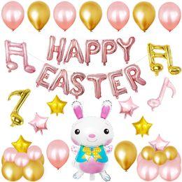 12inch jour de fête de Pâques partie ensembles décoratifs de dessin animé lapin lapin forme film d'aluminium ballon décor kits DHL livraison gratuite ? partir de fabricateur