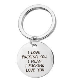 Deutschland Keychain Anhänger Liebe Ficken Sie Brief-Halskette Schlüsselanhänger Dog Tag Charm Anhänger Paare lieben Schriftzug Tag Halskette Schmuck Versorgung