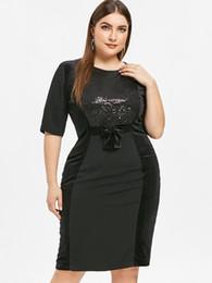 3ec2729a9af Wipalo Women Half Sleeve Sequin Plus Size 6XL Bodycon Dress Knee Length Bow  Embellished Slim Club Party Dress Ladies Vestidos
