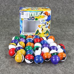 2019 autocollant elf 36pcs / Lot 6 Couleurs Anime Cartoon Mini Ball Haute Qualité Pvc Ball Toy Avec Free Elf Et Autocollants autocollant elf pas cher
