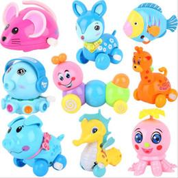 2019 jouets en plastique de chenille Gros Cute Cartoon Animals Mécanique À remonter À remonter Jouets Bébé Infantile En Plastique Enfants Enfants Cadeau 0-4 Année Multi Styles