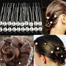 8mm Pearl Wedding Fashion Alloy Hair Clips Lady Hair Jewelry Hairpin Hair Clips da