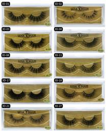 2020 Nouveaux Top qualité Outils de maquillage cils 3D Mink long et épais naturel réel Mink Lahses main Faux Cils 25 Styles Livraison gratuite ? partir de fabricateur