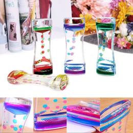2019 ornamenti orologi Floating Color Mix Illusion Timer Liquid Motion Visual Slim Liquid Oil Glass Acrilico Clessidra Timer Clock Ornament Desk sconti ornamenti orologi