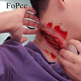 Mascara de mordida online-El nuevo diseño de silicona Bite Festival Máscaras de Halloween Las cicatrices del cuello de la Picadura de terror máscara del partido del traje de Halloween Party Supplies Cosplay