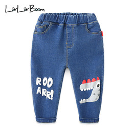 modelli di jeans per bambini Sconti LarLarBoom Denim Pants per bambini Spring Cute Cartoon Dinosaur Pattern Kids Casual Pants 2019 New Fashion Boys Jeans