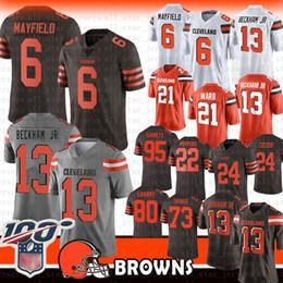 maillot 27 Promotion 6 Baker Mayfield Cleveland 13 Maillot Odell Beckham Jr Browns 80 Jarvis Landry 95 Myles Garrett Quartier Nick Chubb Joe Thomas Browns 80 21 27 95