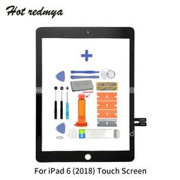 Touch screen panel glas ersatz online-Touchscreen Für iPad 6 6. Gen 2018 Version A1893 A1954 Frontaußenverkleidung Digitizer Glass Adhesive Ersatzteile
