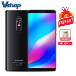 Câmera blackview on-line-Blackview MAX1 6 GB + 64 GB Laser Projetor Telefone Câmeras Frente Dupla 4680 mAh Bateria 6.01 polegadas Android 8.1 MTK6763T Octa Núcleo até 2.5 GHz NFC