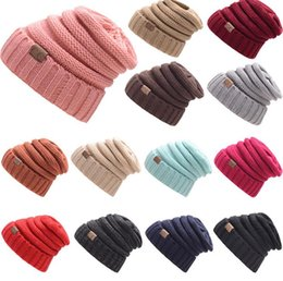 Luxury Women Men Winter Knitted Wool C Hats Caps Label Warm Skullies Beanies  Unisex Adult Casual Hat Sport Casual Cap 17 Colors 7f132fea4474