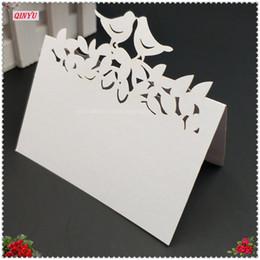 10pcs taglio laser uccelli amore carta del sedile tabella nome carta luogo di nozze festa celebrazione invito decorazione 6ZSH878 da
