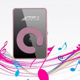Moda Nuevo Mini Clip de moda Deporte USB Micro SD TF Espejo C Botón MP3 Música Reproductor multimedia Rosa desde fabricantes