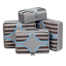 2019 handtaschen-sets 4 STÜCKE Nylon Verpackungswürfel Große Tasche Organizer Reisetaschen Set Luxus Handtaschen Frauen Taschen Designer Sac Eine Hauptreiseaufbewahrungstasche rabatt handtaschen-sets