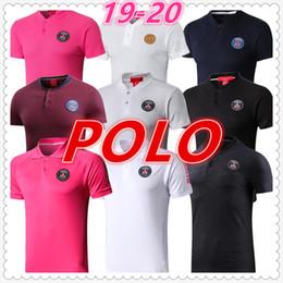 2019 polos de diseño para hombres psg jordan camisas de polo de diseño de los hombres camiseta de fútbol 2019 2020 france Psg mbappe camisa de fútbol soccer jersey diseñador de camisetas para hombre rebajas polos de diseño para hombres
