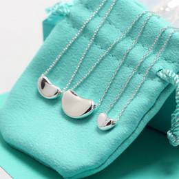 2019 Nuovo T famiglia arrivo in argento sterling 925 Nome Marca Rose Gold tipo di fagiolo 3 di formato per le donne collana d'avanguardia di modo regalo gioielli da trasporto di goccia della mela fornitori
