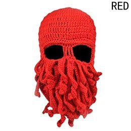 2019 máscara cthulhu 2019 New Unisex Octopus Inverno Quente Malha De Lã Máscara Cap Chapéu Squid Cap Tentáculos Cthulhu Beanie chapéu máscara cthulhu barato