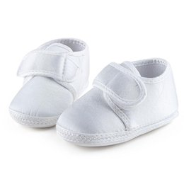 e33e96925bf Pure White The Baptism Of Shoes Holy Angles Soft Sole Cotton Baby Shoes For  0-15 Months Newborn Christening