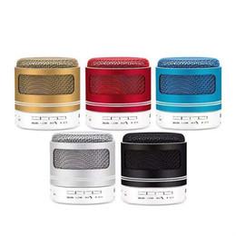 Новейший Prodduct Speaker Улучшенный динамик LED Light Ring Super Bass Металл Мини Портативный Beat Hi-Fi Bluetooth Handfree cheap beat bluetooth от Поставщики бить bluetooth