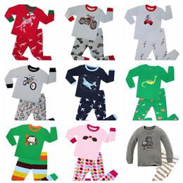 Пижамы детские животные онлайн-100 хлопок мальчиков животных червь Пижамы Комплекты Детские пижамы для детей 2-8Years автомобилей Печать Pijamas Транспортных Пижама мальчиков Одежда 31style DHl