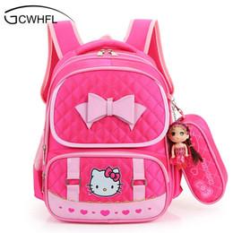 d025058540 hello kitty school backpack Promo Codes - Hello Kitty School Backpacks For  Children Nylon Girls Princess