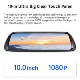 2019 зеркало заднего вида 10-дюймовый Android 8.1 4G Зеркало заднего вида Автомобильный видеорегистратор Gps-навигатор Bluetooth Музыка Wi-Fi Hd 1080 P Потоковый видеорегистратор дешево зеркало заднего вида