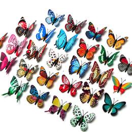 2019 decoração da janela exterior simulação de oito centímetros borboleta luminosa 3D cor estéreo borboleta luminosa casa foto parede decorativos de parede adesivos personalizados JXW043