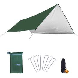 Tappeti da campeggio online-Stuoia di campeggio impermeabile 3 * 4m materasso Tenda esterna panno multifunzione Tende da sole Tenda da picnic tappetino stuoie di terra