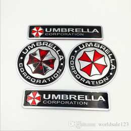 decalques malvados residentes Desconto Metal 3D Resident Car Adesivo Mal Guarda Umbrella Corporation Emblema Do Emblema Do Tronco Do Carro Decalque adesivos de Carro Fresco Com Auto Adesivo estilo Do Carro