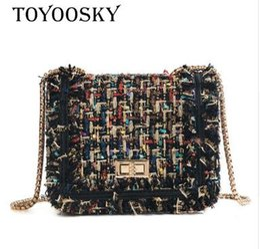 Tapicería de lana online-2019 Brand Crossbody Bags For Women 2019 Diseñador de bolsos de lujo de invierno Pequeñas mujeres Messenger Bags Wool bolsa feminina