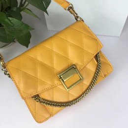 saco de marca famosa couro genuíno Desconto Famosa marca designer bolsas de luxo de alta qualidade das mulheres saco crossbody clássico rhombic bolsa de couro genuíno bolsa de ombro de luxo