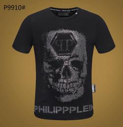 Крутые повседневные рубашки для мужчин онлайн-Черная футболка с 0-образным вырезом 2019 Новая модная вышивка на груди Мужская футболка Wolf с коротким рукавом Повседневная футболка Hipster Fractal Pattern футболки Cool Tops # 5740