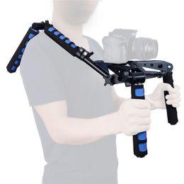 Piattaforma di supporto per il supporto a spalla online-DSLR Rig Movie Kit Supporto per montaggio a spalla Set stabilizzatore per fotocamere 77C 760D 800D 70D 80D 5D II 7D 600D Nikon / Sony Telecamere