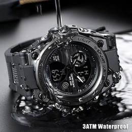 relógios multi-funções homens Desconto 2019 mais novo relógio dos homens esporte multi-função à prova d 'água relógio digital dos homens ao ar livre esportes assistir alta qualidade frete grátis