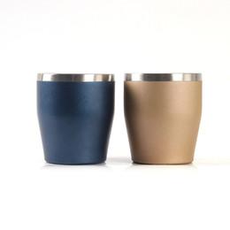 Vendere la tazza online-Doppia tazza da vino in acciaio inossidabile a forma di U Tumbler Tumbler portatile Birra Tazze da caffè Senza manico Vendita calda 12lx O1