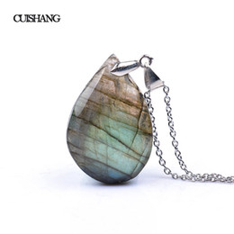 colares da jóia fina Desconto CSJ Natural irregular cristal Labradorite Pingentes Moonstone Sunstone Colar Adivinhação espiritual meditação Jóias Finas