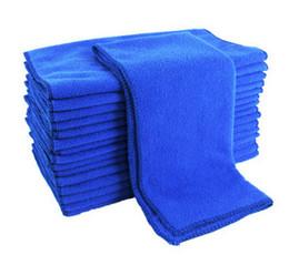 2019 toalhas de microfibra por atacado para carros 30 * 70 cm Super Macio Microfibra Toalha Lavagem de Carro Azul de Alta Qualidade Multifuncional Pano De Limpeza Do Carro Atacado Frete Grátis toalhas de microfibra por atacado para carros barato