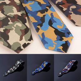 Designer de moda Jacquard Camouflage magro Magro gravata Limite Camo Tie microfibra Waterproof Men presente de