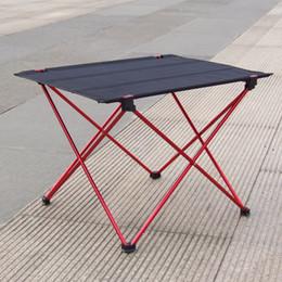 2019 einfache wohnmöbel Freies shiping beweglicher faltbarer faltender Tisch-Schreibtisch kampierender im Freienpicknick 6061 Aluminiumlegierung ultraleicht