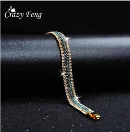 2019 braceletes de ouro branco 24k Designer de marca de moda encantadora noiva pulseira de cristal de casamento mulheres jóias brilhante strass pulseira para mulheres 2019 nova