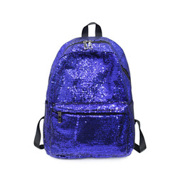 backpacks color gold for women Promo Codes - Miyahouse Solid Color Sequin Women Backpack Large Capacity School Bag For Student Fashion Travel Bag For Teenage Girls