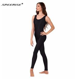 6c881d79c07 ivory bodysuit Promo Codes - SPEERISE Black Unitard for Womnen Spandex  Ballet Sleeveless Unitards Gymnastic One