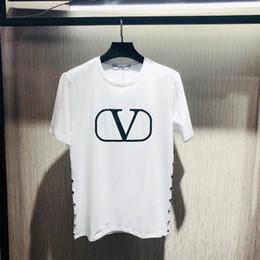 nueva camiseta larga de botín Rebajas Verano Europa París Moda Para Hombre Diseñador de Alta Calidad de Algodón Graffiti Camiseta Casual hombres Tee Camiseta de Lujo .0122